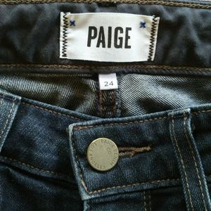 PAIGE Skyline Skinny Twilight Wash Jeans Sz 24